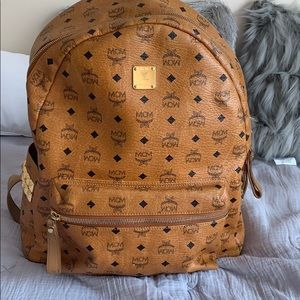 Used Authentic MCM Stark Side Studs Backpack